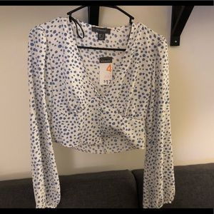 Ivory Button Front Blouse